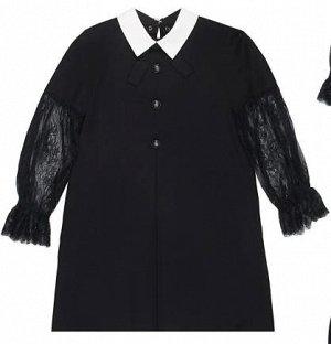 """Суперское школьное платье """"Со складкой спереди и пуговицами""""  со скидкой в 700р."""