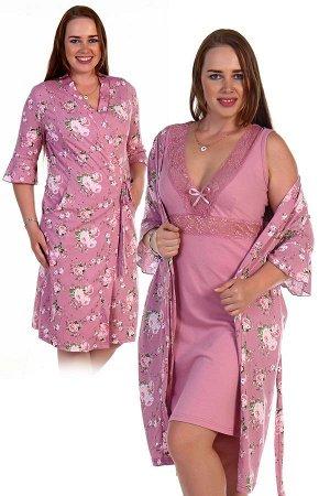 Двойка пеньюар+сорочка