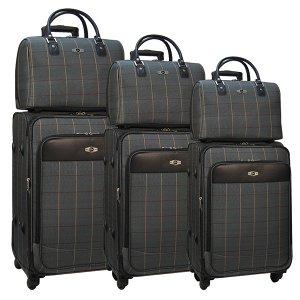Комплект чемоданов Borgo Antico. 6093 grey komplekt. 4 съёмных колеса.