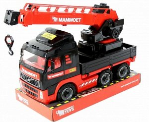 """Автомобиль-кран с поворотной платформой """"Mammoet Volvo"""" 73см, сетка"""