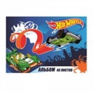 """Альбом для рисования """"Hot Wheels"""", формат А4, 40 листов, на спирали, 20*29 см  тм.CENTRUM"""