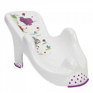 Горка для ванны анатомич. HIPPO, белая 53*25*22