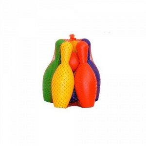 Кегли с мячами (5 кеглей, 2 мяча) в сетке