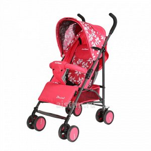 Коляска-трость для детей DESSI  (Indigo) красный (5 пол. спинки,разъем. бампер)*