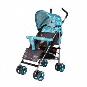 Коляска-трость для детей RIDE ,синий (8 колес (14 см),4 пол. спинки,разъемн. бампер)*