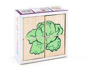 """Кубики """"Овощи"""", 4шт., дерев., кор.9*9*4"""