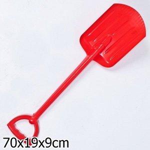 Лопата 70 см красная