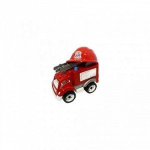 Машина Пожарная  с каской, сетка 36см