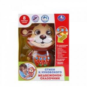 """Медвежонок-сказочник """"Умка"""" К. Чуковский, на бат., кор. 22*16,5*9 см"""