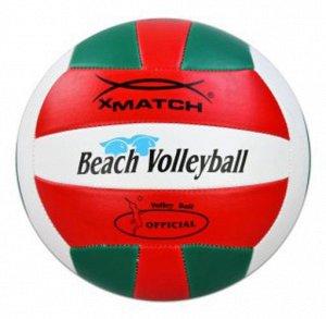 Мяч волейбольный X-MATCH зел/красн./бел.