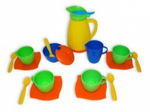"""Набор детской посуды """"Алиса"""" на 4 персоны, 28*28*10см., сетка"""