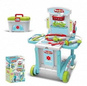 Набор доктора с аксесс, на колесиках , чемоданчик 38*47*42,5 см