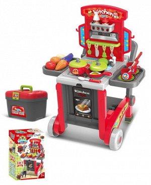 Набор Кухня с аксесс.,на колесиках , чемоданчик 60*42,5*47 см