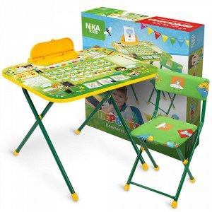 "Набор мебели ""Первоклашка"" (стол-парта,пенал, мягк. стул) тм NIKA"