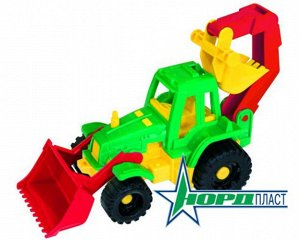"""Трактор """"Ижора"""" с грейдером и ковшом,17см тм Нордпласт"""