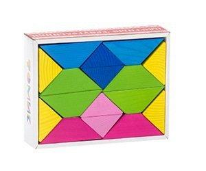 Треугольники цветные(дерево),кор.17*13*4