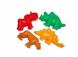Формочки (тигр+мамонт+динозавр№1+динозавр№2) 20*12*9 см