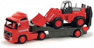Авт.-трейлер + трактор погрузчик (с сеточке) 8831 (1/4)