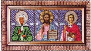 Набор для вышивания бисером ВЫШИВАЕМ БИСЕРОМ арт.L6 Триптих 26х11 см