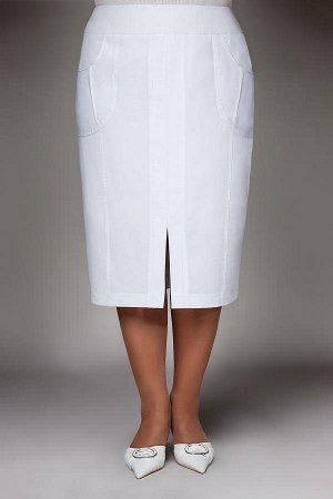Юбка Модель:юбка текстильная прямого силуэта. Декор: .карманы Особенности конструкции: прямой пояс ,подкладка,застежка молния. 95% эластан 5%Ткань:текстиль анжелика. Талия-112см, обхват бедер-132см.
