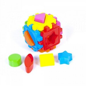 Фигура логика Кубик малый с фигурами, 9*9см.