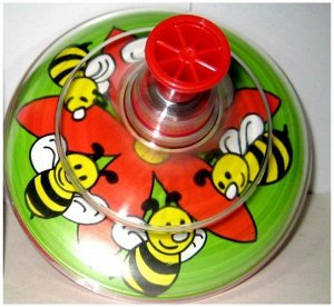 Юла прозрачная Пчелка, сетка.16см
