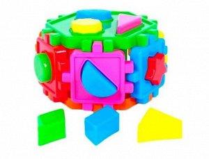 Фигура логика Шестигранник с фигурами, сетка 49 см