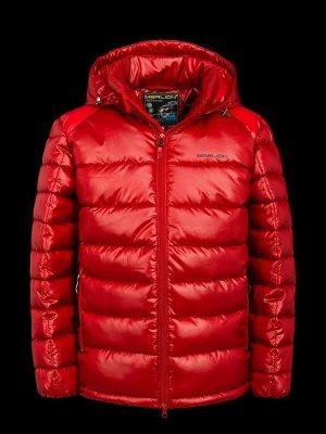 Куртка зимняя детская Merlion Владик (бордо клетка/бордо)