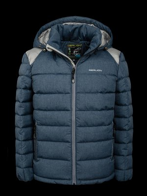 Куртка зимняя детская Merlion (синий меланж/серый) р.38-40