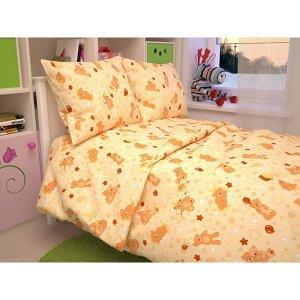 Детский комплект в кроватку Мишки, цвет бежевый 350-4