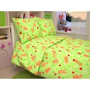 Детский комплект в кроватку Мишки, цвет зеленый 350-2