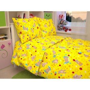 Детский комплект в кроватку Мишки, цвет желтый 350-5