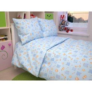 Детский комплект в кроватку Жирафики, цвет голубой 366-1