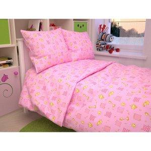 Детский комплект в кроватку Жирафики, цвет розовый 366-3