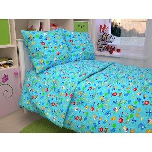 Детский комплект в кроватку Зоопарк, цвет голубой В 42-4