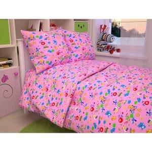 Детский комплект в кроватку Зоопарк, цвет розовый В 42-3