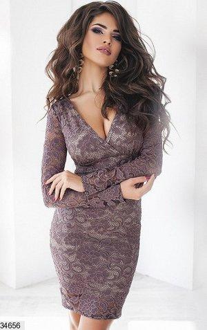 Платье Ткань: гипюр, подкладка трикотаж,Сезон: демисезонное