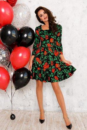 Платье Красивое хлопковое платье из плотного текстиля. Сзади замок. 48 размер