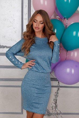 Платье Open-style голубое