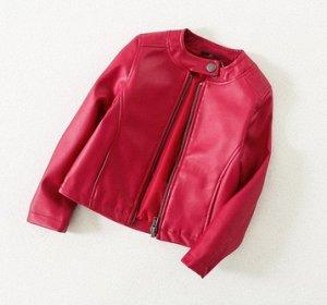 Куртка эко. Кожа,красная.