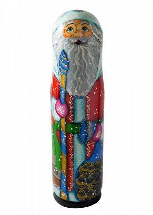 Тубус Дед Мороз, для конфет или бутылки 0,5 л, МП