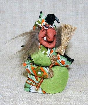 Кукла Баба-Яга мини, М