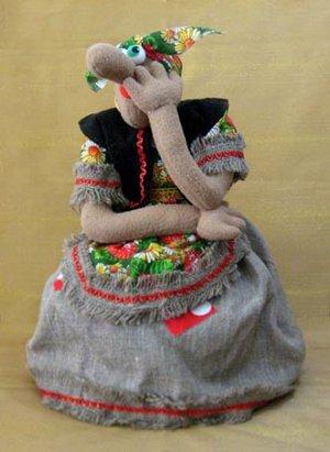 Кукла на чайник Баба-Яга большая, МП