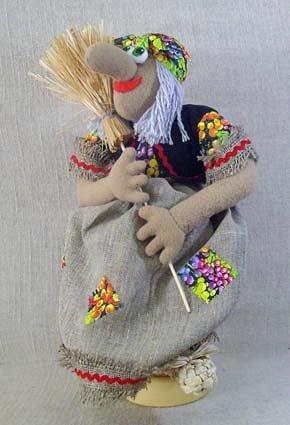 Кукла Баба-Яга в ступе, МП