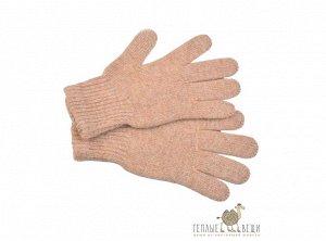 Перчатки из верблюжьей шерсти светлые (детские)