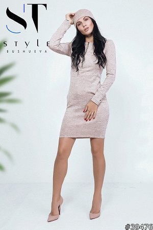 Комплект двойка 39476 (платье+повязка-хомут)