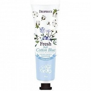 Deoproce Soft Cotton Blue Perfumed Hand Cream Увлажняющий крем для рук хлопок 50гр
