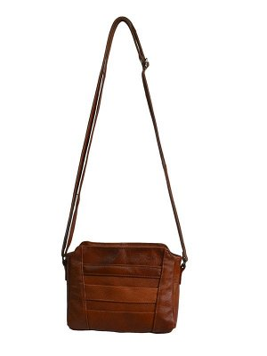Кожанная сумка,цвет коричневый