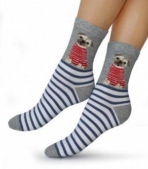 Женские носки-носочки 379 размер 23-25