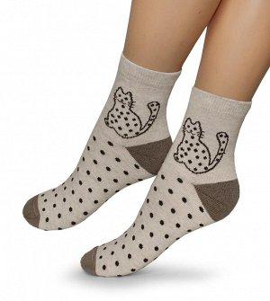 Женские носки-носочки 395 размер 23-25